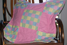 Quilted Checked Dog Blanket